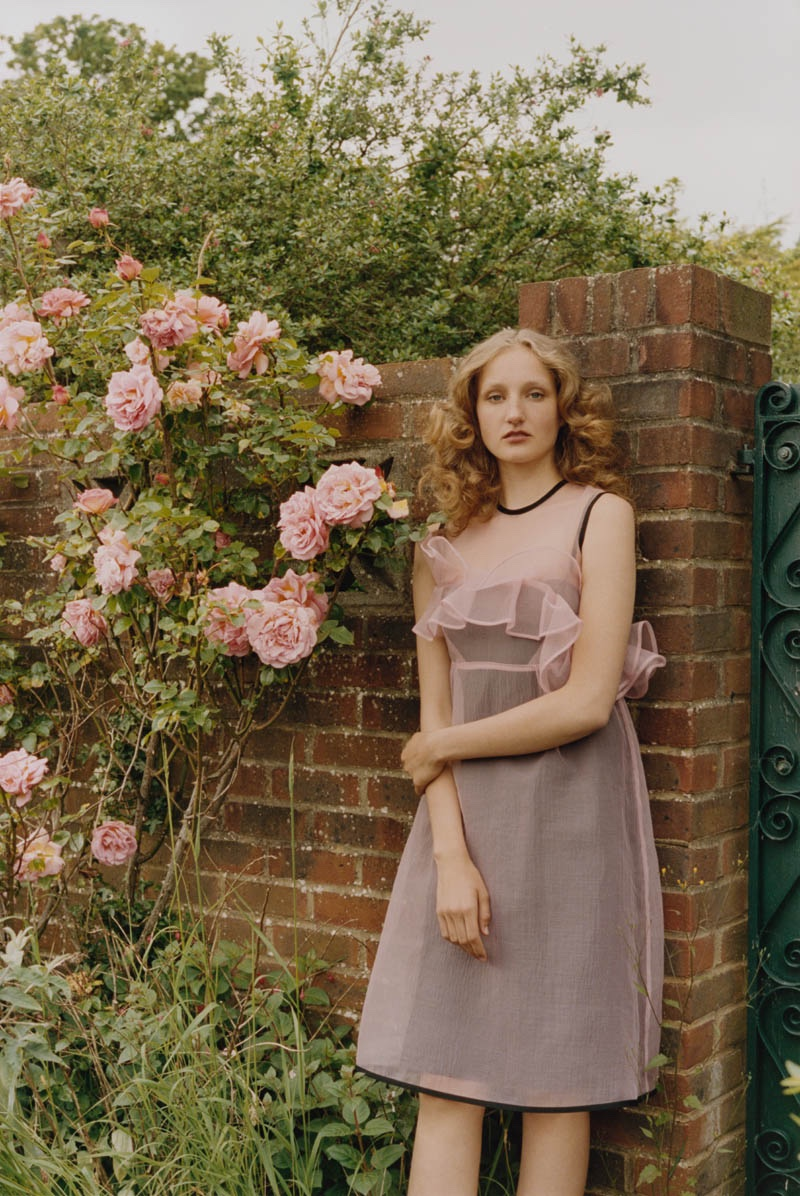 Orla Kiely features pink slip dress in fall 2016 campaign