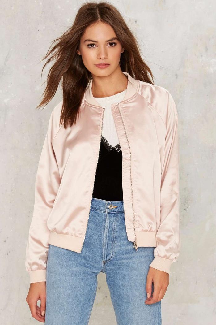 Nasty Gal Bomber Jacket in Pink