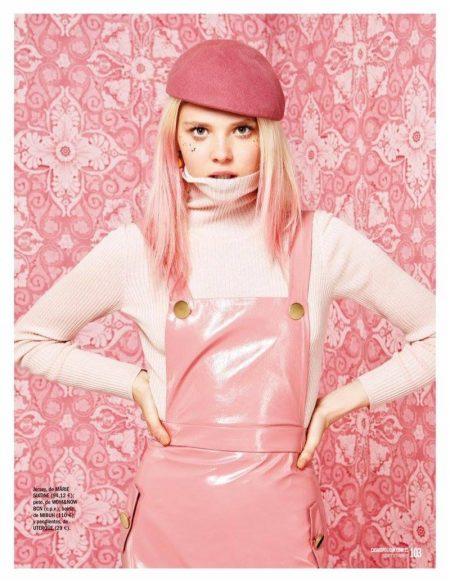 Katty Trost Looks Pretty in Pink for Cosmopolitan Spain