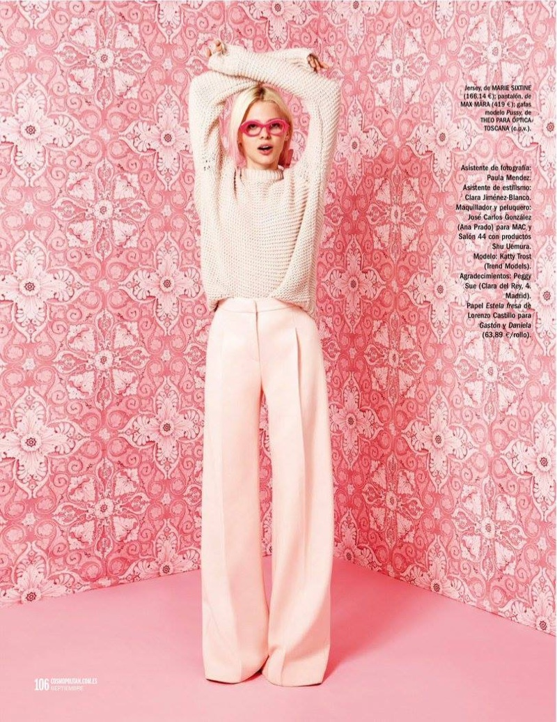 Katty Trost layers up in Marie Sixtine sweater and Max Mara pants