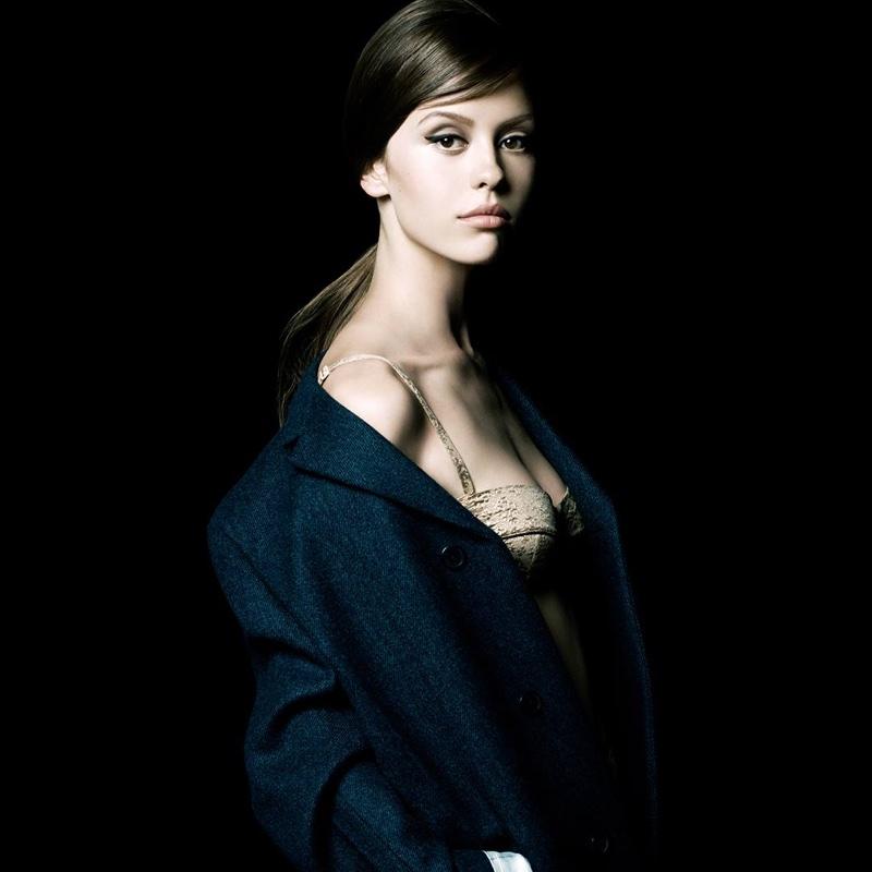 Mia Goth for Prada La Femme campaign