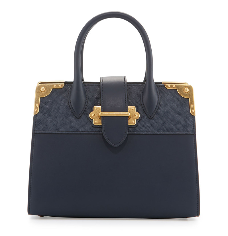 Prada Leather Trunk Tote Bag