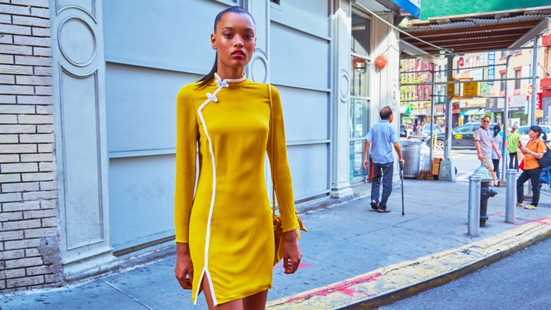Reformation Lotus Dress in Yellow