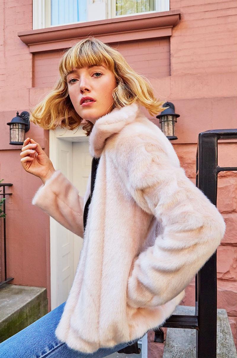 Reformation Piano Faux Fur Coat