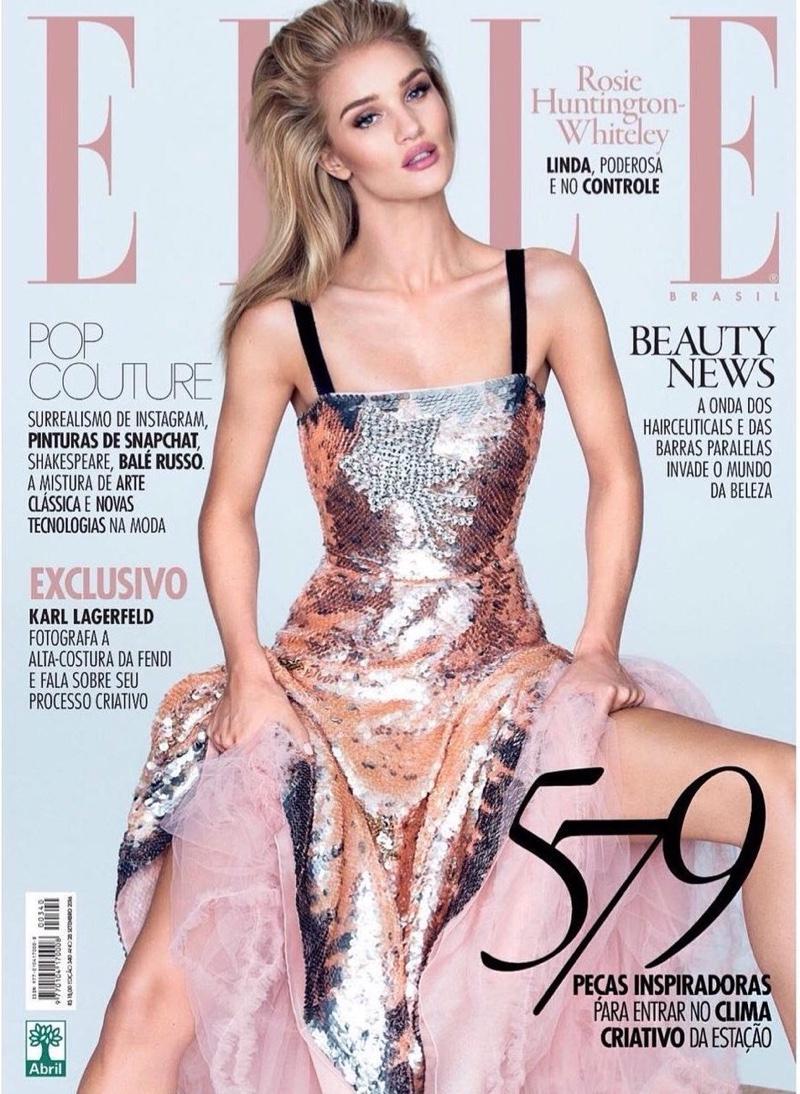 Rosie Huntington-Whiteley on ELLE Brazil September 2016 Cover