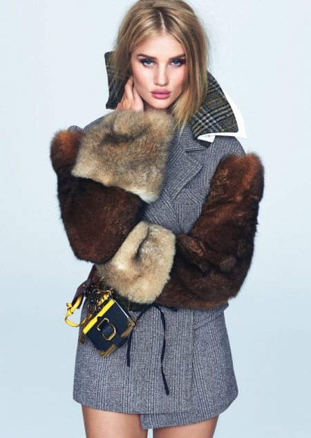 Rosie Huntington-Whiteley Turns Up the Glam for ELLE Brazil