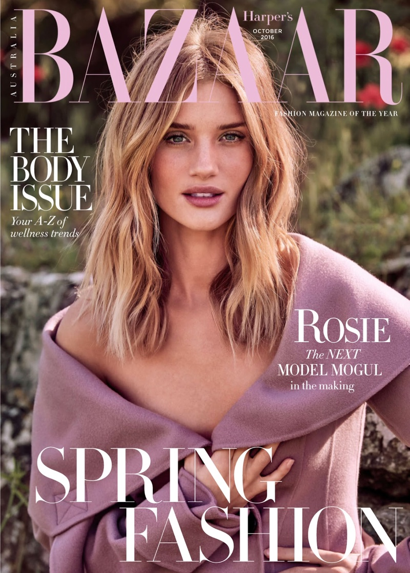 Rosie Huntington-Whiteley on Harper's Bazaar Australia October 2016 Cover
