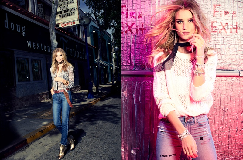 Rosie Huntington-Whiteley stars and art directs Paige Denim's fall advertising campaign