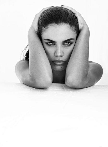 Sara Sampaio in 'Portraits Nudes Flowers' by Mariano Vivanco