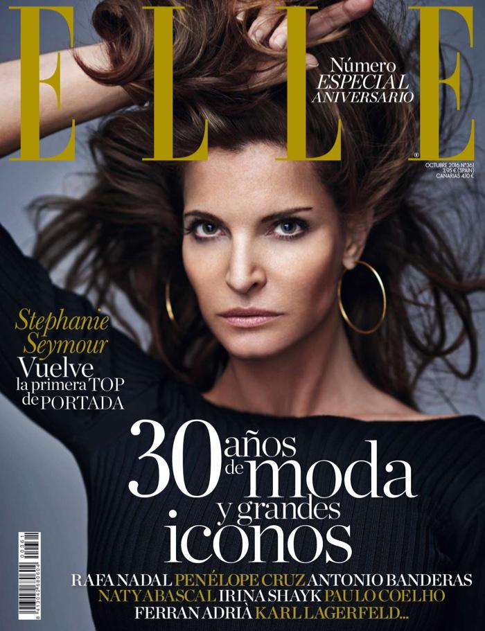 Stephanie Seymour on ELLE Spain October 2016 Cover