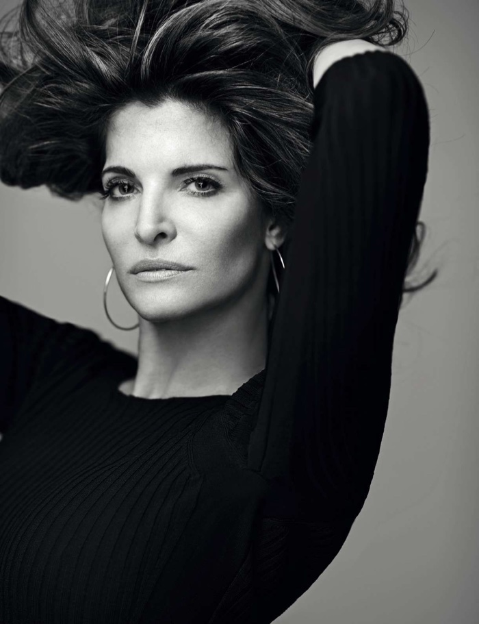 Stephanie Seymour gets her closeup in this black and white shot