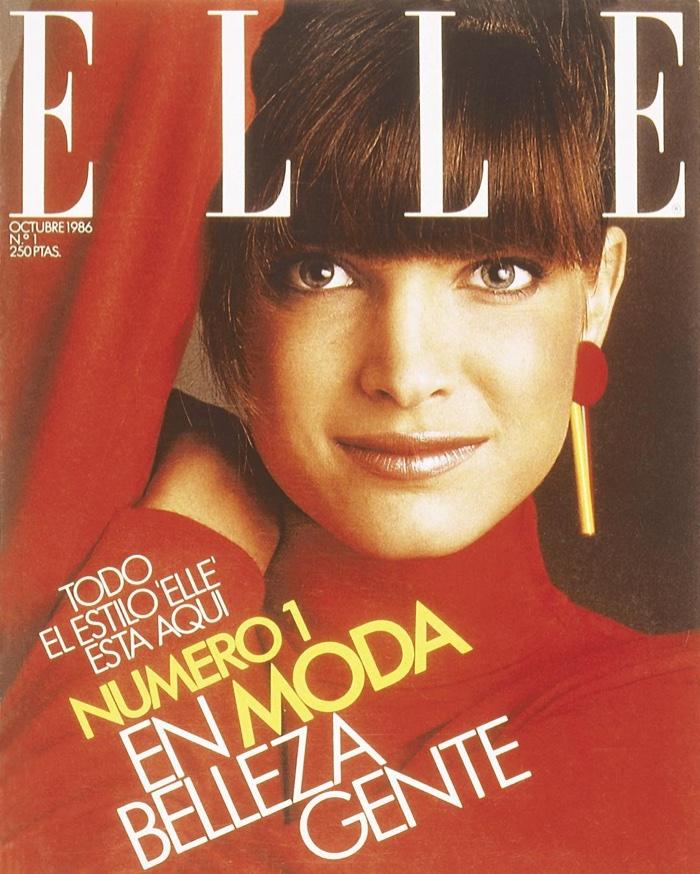 FLASHBACK: Stephanie Seymour on ELLE Spain 1986 Cover