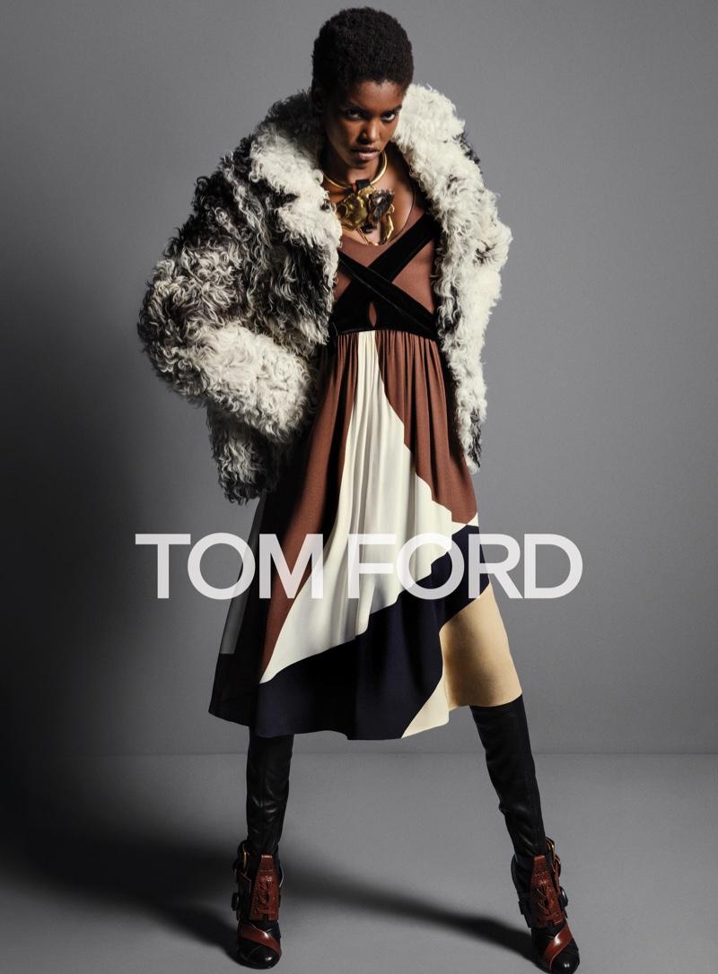 Amilna Estevao stars in Tom Ford's fall 2016 advertising campaign