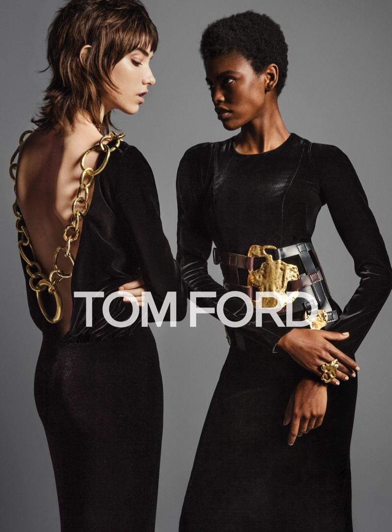 Amilna Estevao and Grace Hartzel star in Tom Ford's fall 2016 campaign