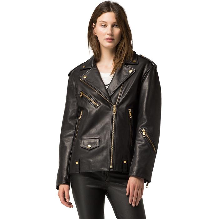 Tommy Hilfiger x Gigi Hadid Leather Biker Jacket