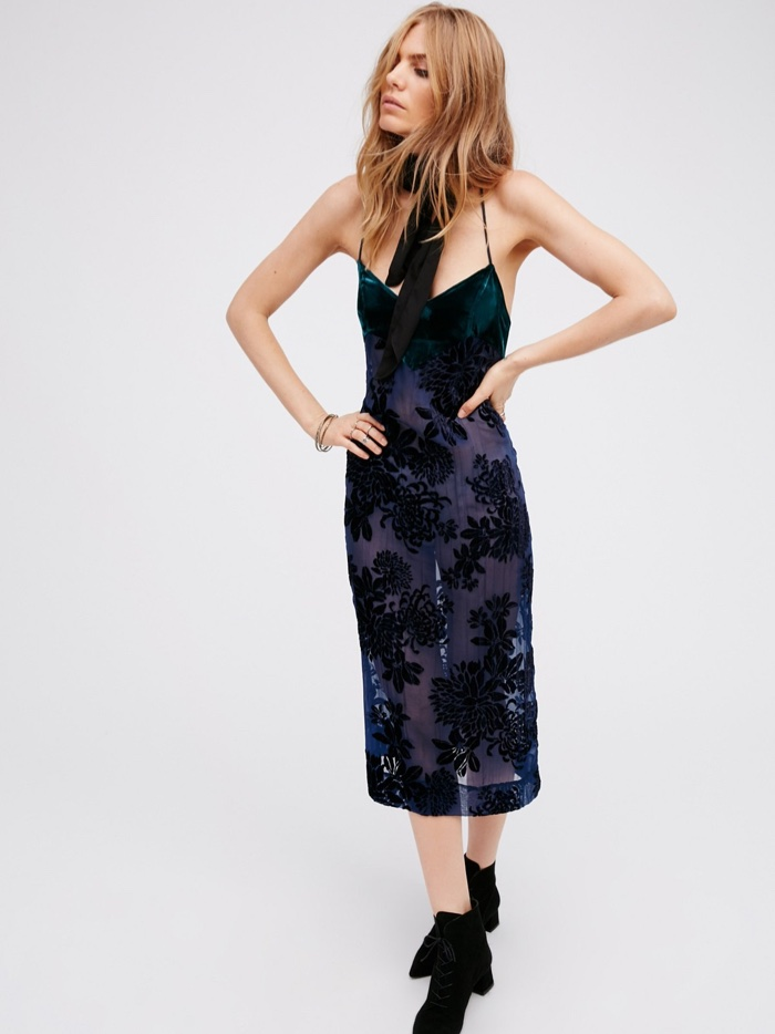 Intimately Free People Velvet Accent Dress