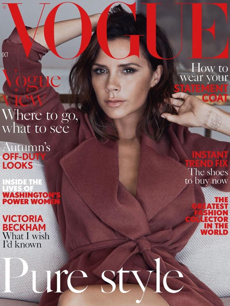 Victoria Beckham on Vogue UK October 2016 Cover