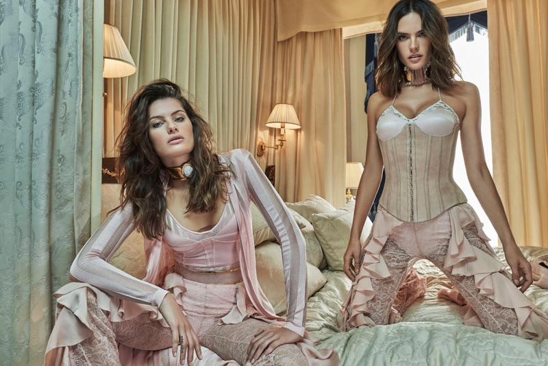 Isabeli Fontana & Alessandra Ambrosio Rock Balmain Fall Looks for Vogue Brasil Cover Story