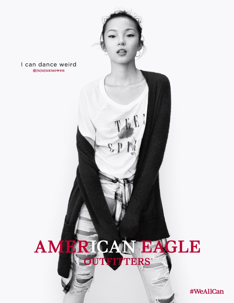 Xiao Wen Ju stars in American Eagle Outfitters' fall 2016 campaign