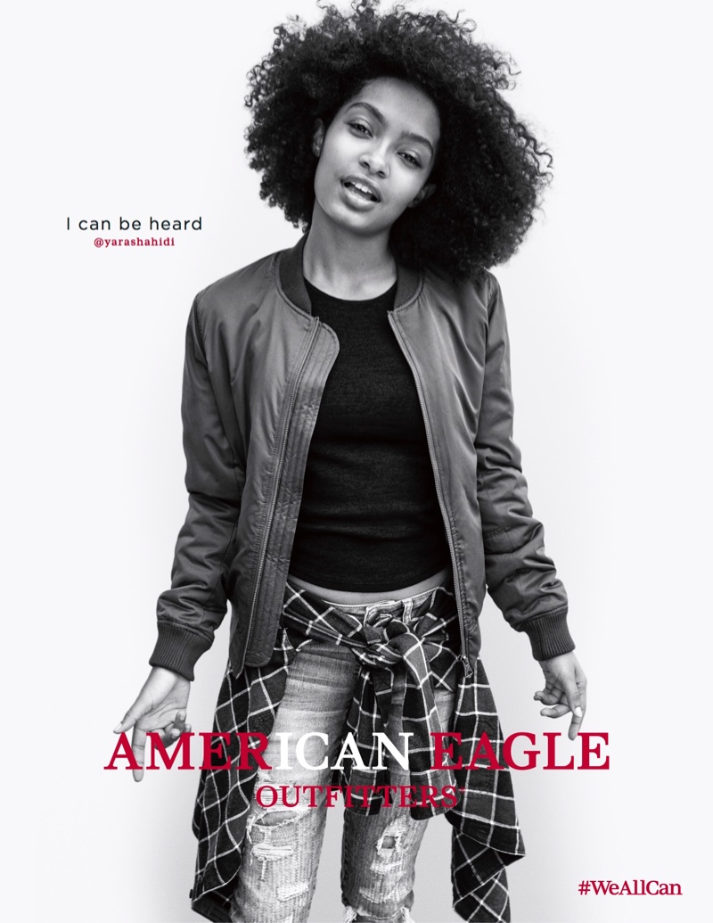 Yara Shahidi stars in American Eagle Outfitters' fall 2016 #WeAllCan campaign