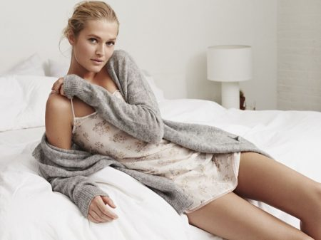 Toni Garrn Lounges in Style for Zara Home's Fall Collection