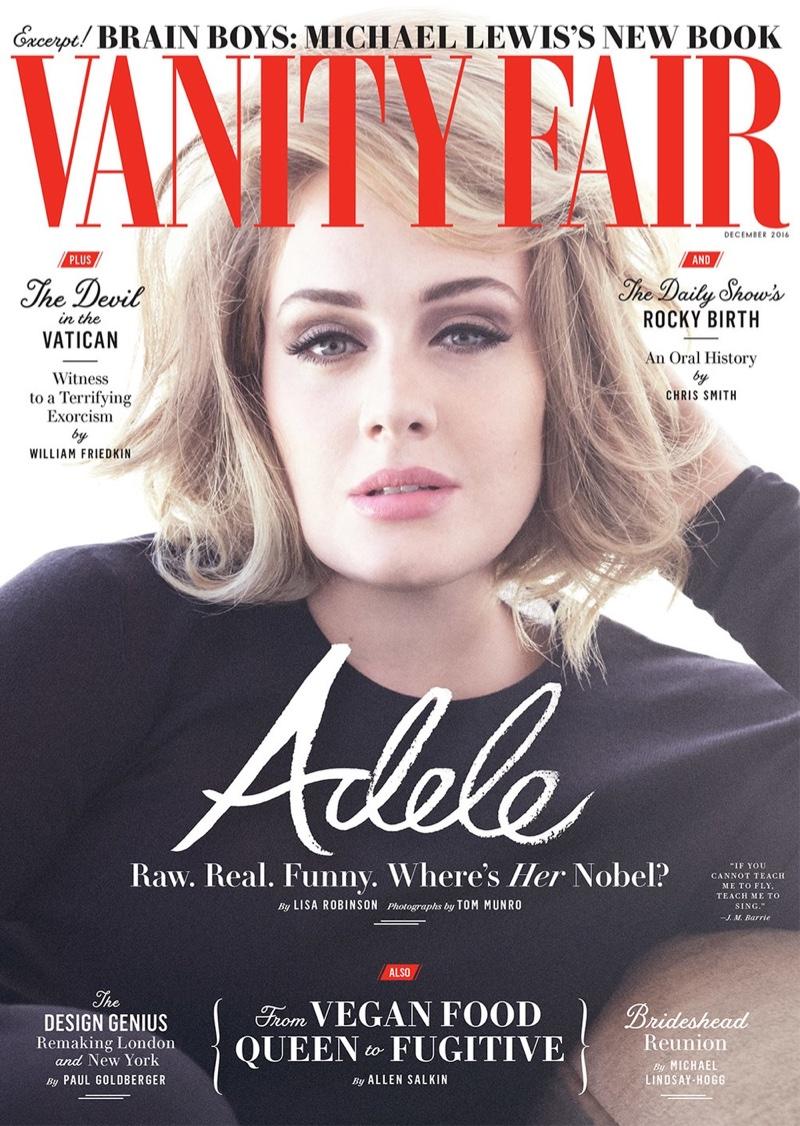 Adele on Vanity Fair December 2016 Cover