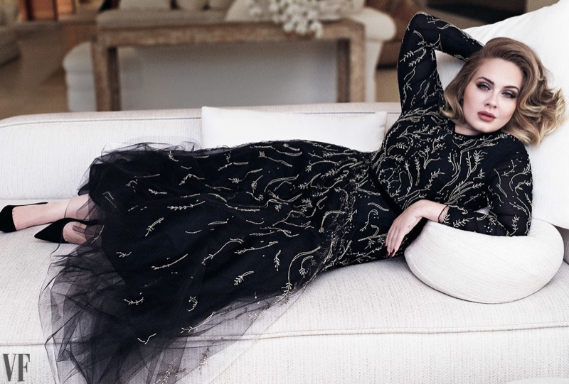 Adele Poses in the Chicest Looks for Vanity Fair Feature | Fashion ...