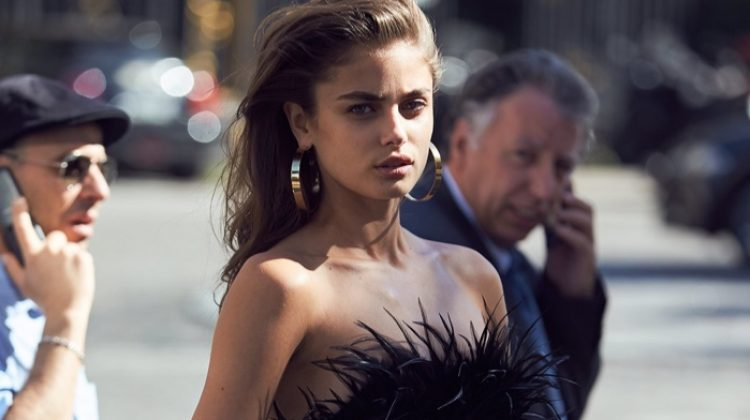 Taylor Hill Smolders in Alexandre Vauthier's Spring 2017 Collection