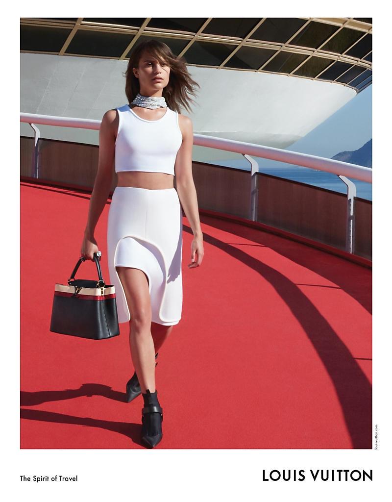 Alicia Vikander stars in Louis Vuitton's Spirit of Travel cruise 2017 campaign
