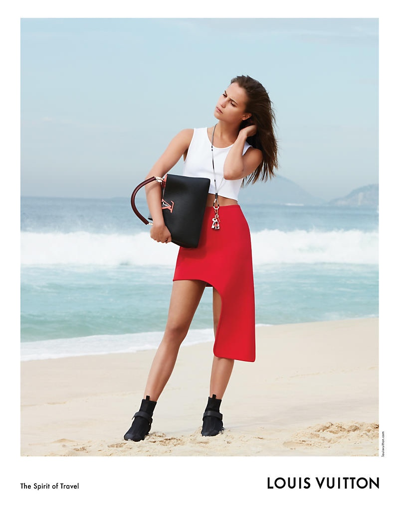 Photographed by Patrick Demarchelier, Alicia Vikander poses in Rio de Janeiro, Brazil for Louis Vuitton's latest advertising campaign