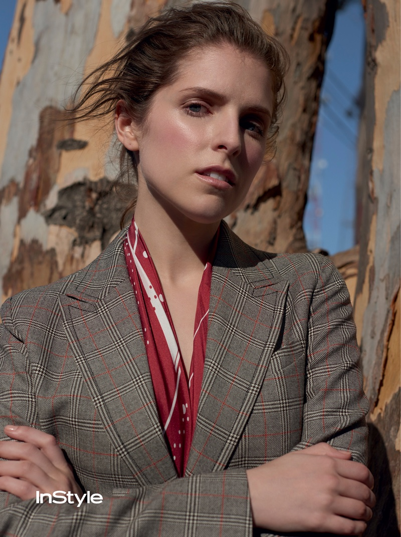 Anna Kendrick gets her closeup in suit jacket and shirt