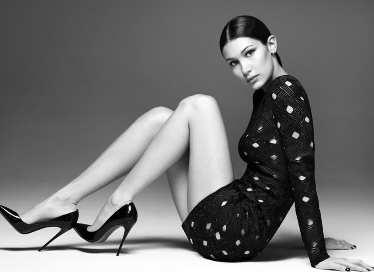 Model Bella Hadid sports a little black dress from Misha