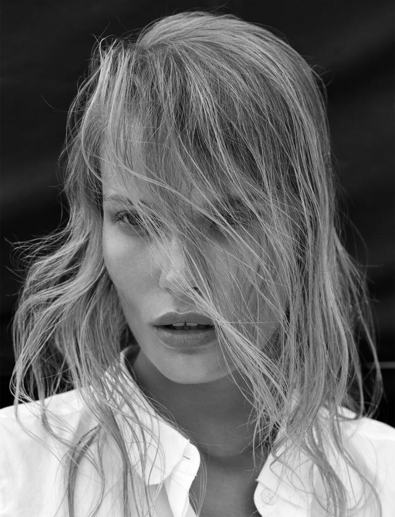 Alena Blohmwears Calvin Klein shirt