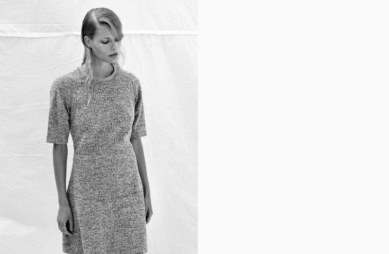 Alena Blohmwears Calvin Klein dress