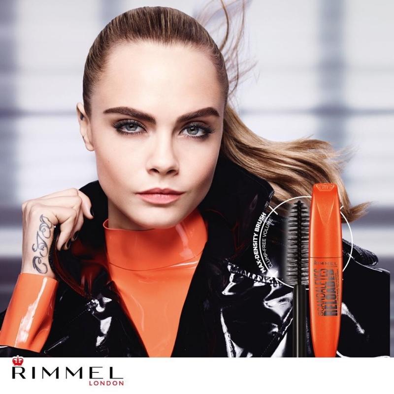 Cara Delevingne stars in Rimmel London Scandal Eyes campaign