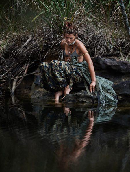 Chloe Lecareux Takes a Trip to the Wild for ELLE Australia