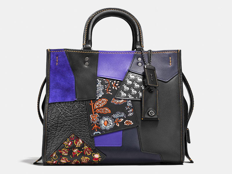 Coach Rogue Bag with Embellished Patchwork Leather