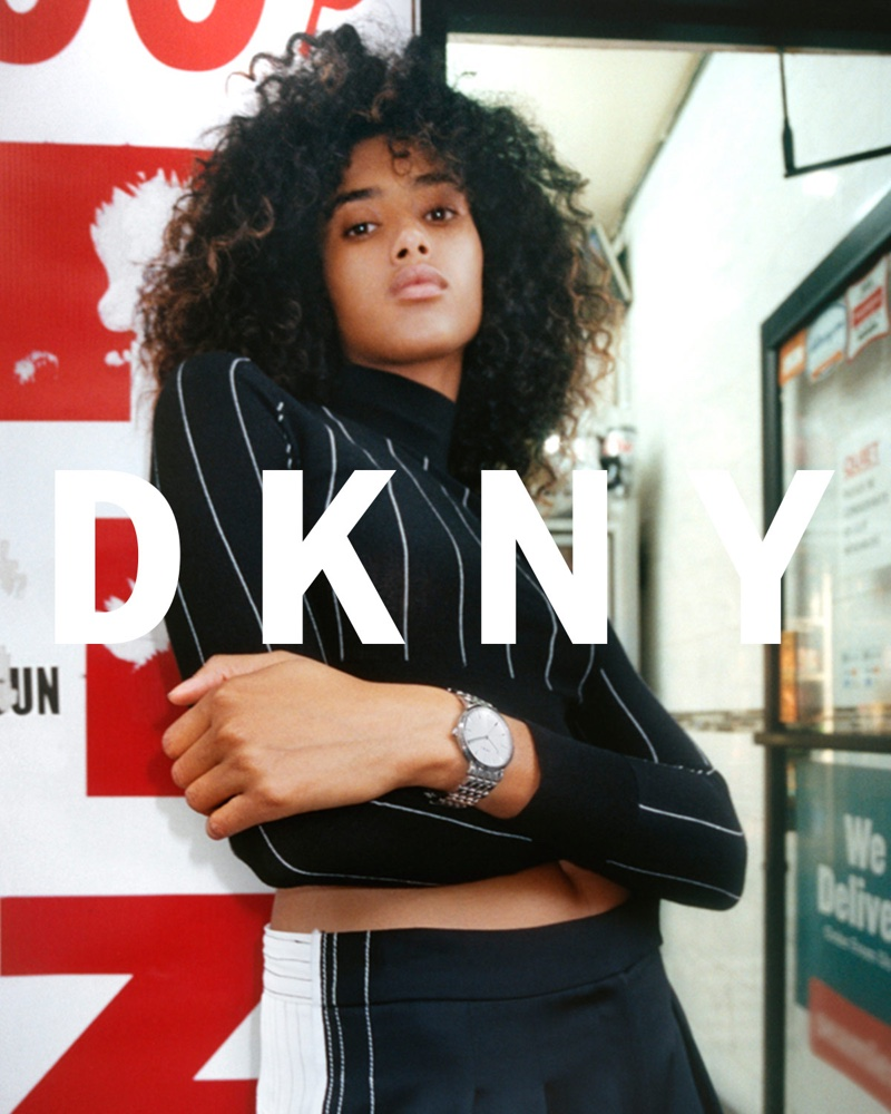 Imaan Hammam Explores the City in DKNY's Pre-Spring Ads