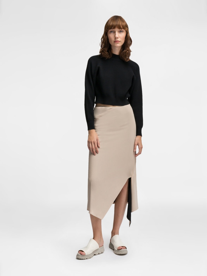 DKNY Reversible Skirt with Front Slit