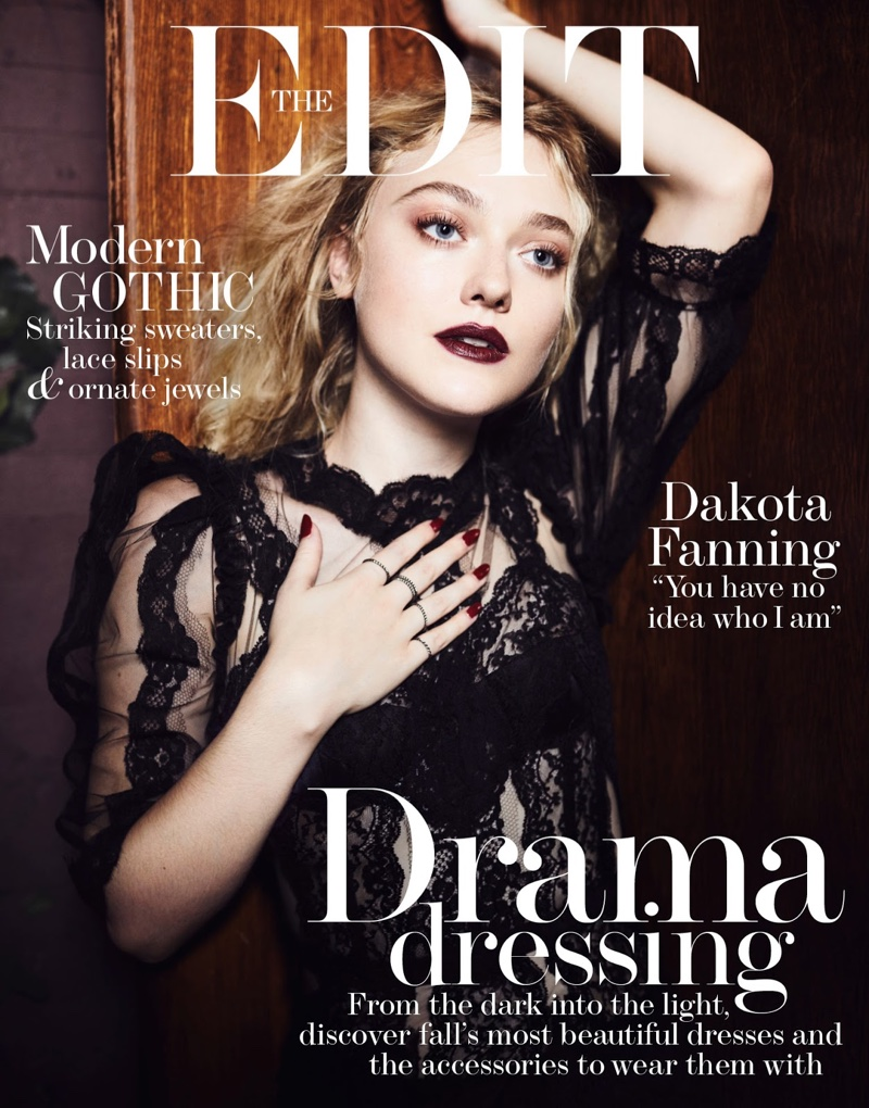 Dakota Fanning on The Edit October 20th, 2016 Cover