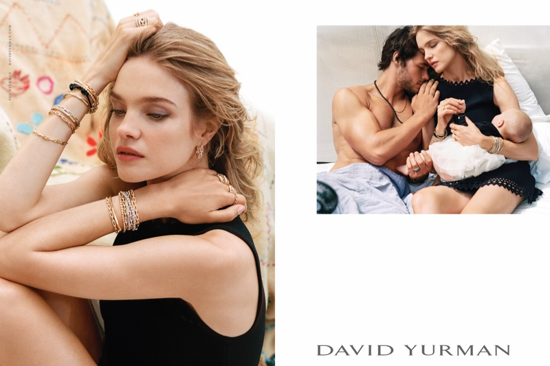 Natalia Vodianova stars in David Yurman's holiday 2016 campaign