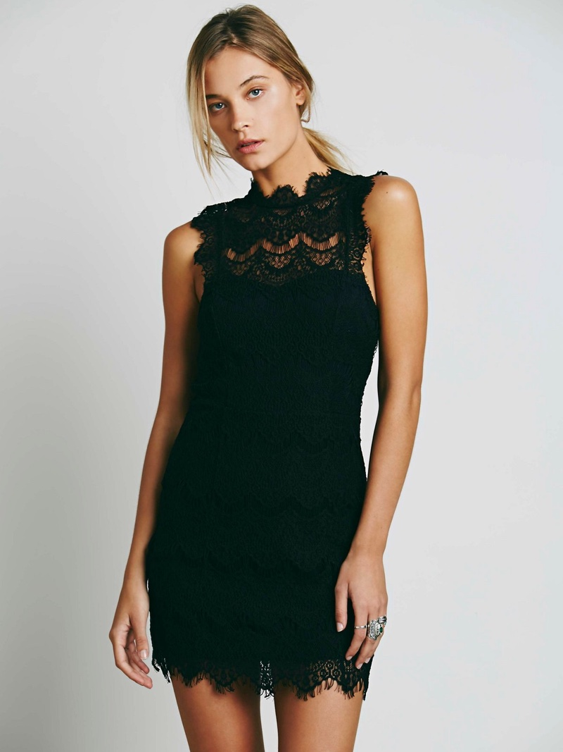 Intimately Free People Daydream Bodycon Lace Slip Dress