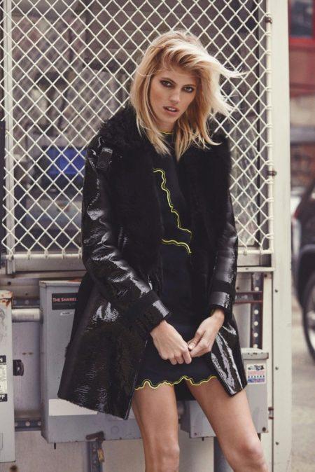 Devon Windsor Models Versace's Fall Collection for Narcisse