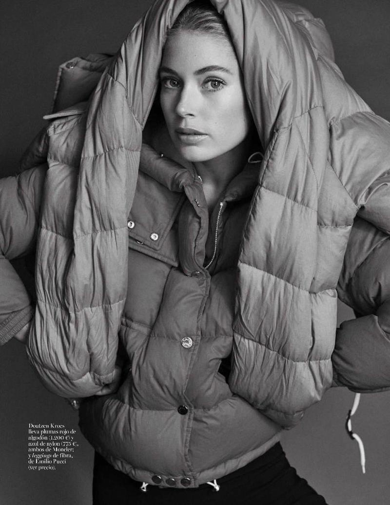 Doutzen Kroes Layers Up in Fall Coats for Vogue Spain