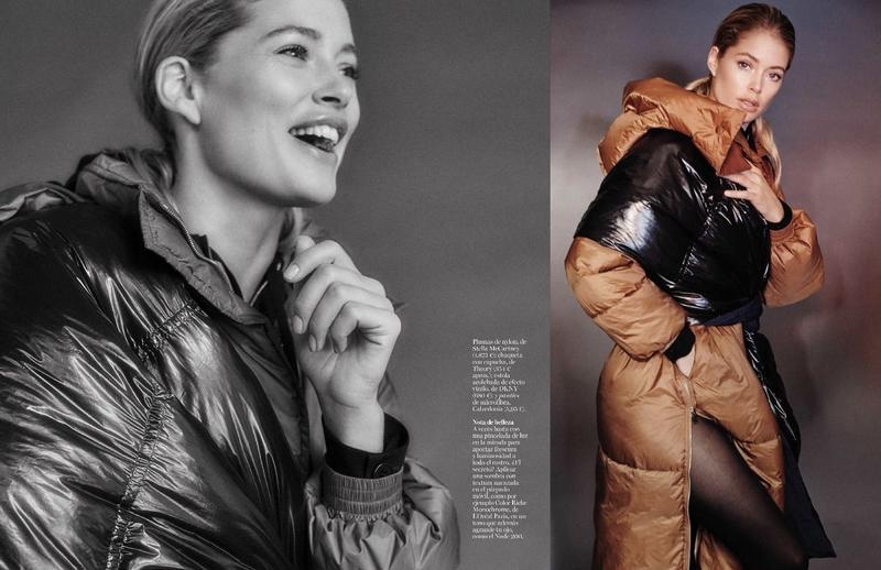 Doutzen Kroes models Stella McCartney coat