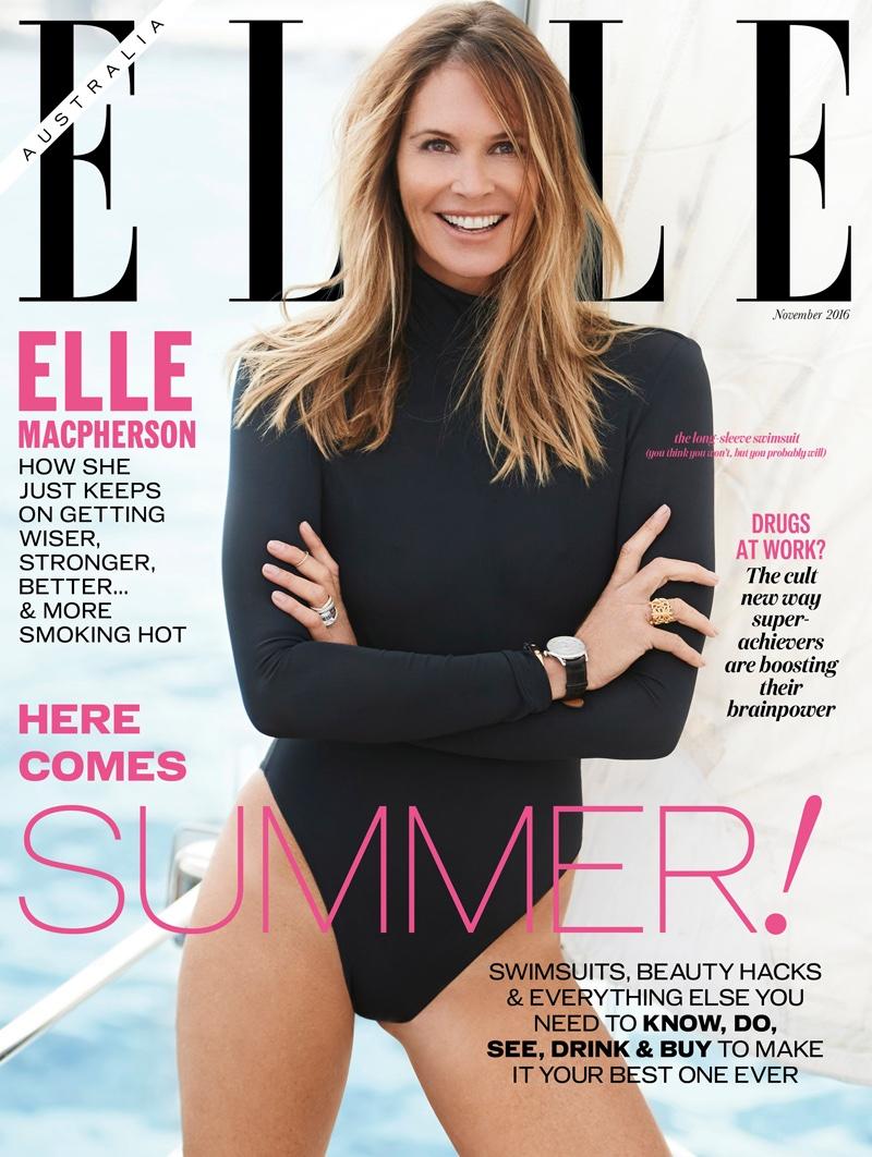 Elle Macpherson on ELLE Australia November 2016 Cover
