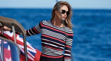 Elle Macpherson Hits the High Seas for ELLE Australia
