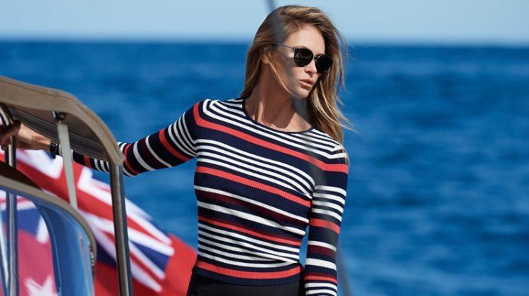 Elle Macpherson Hits the High Seas for ELLE Australia