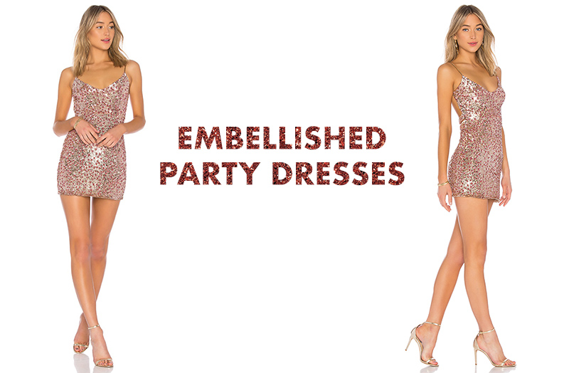 Embellished party night out dresses