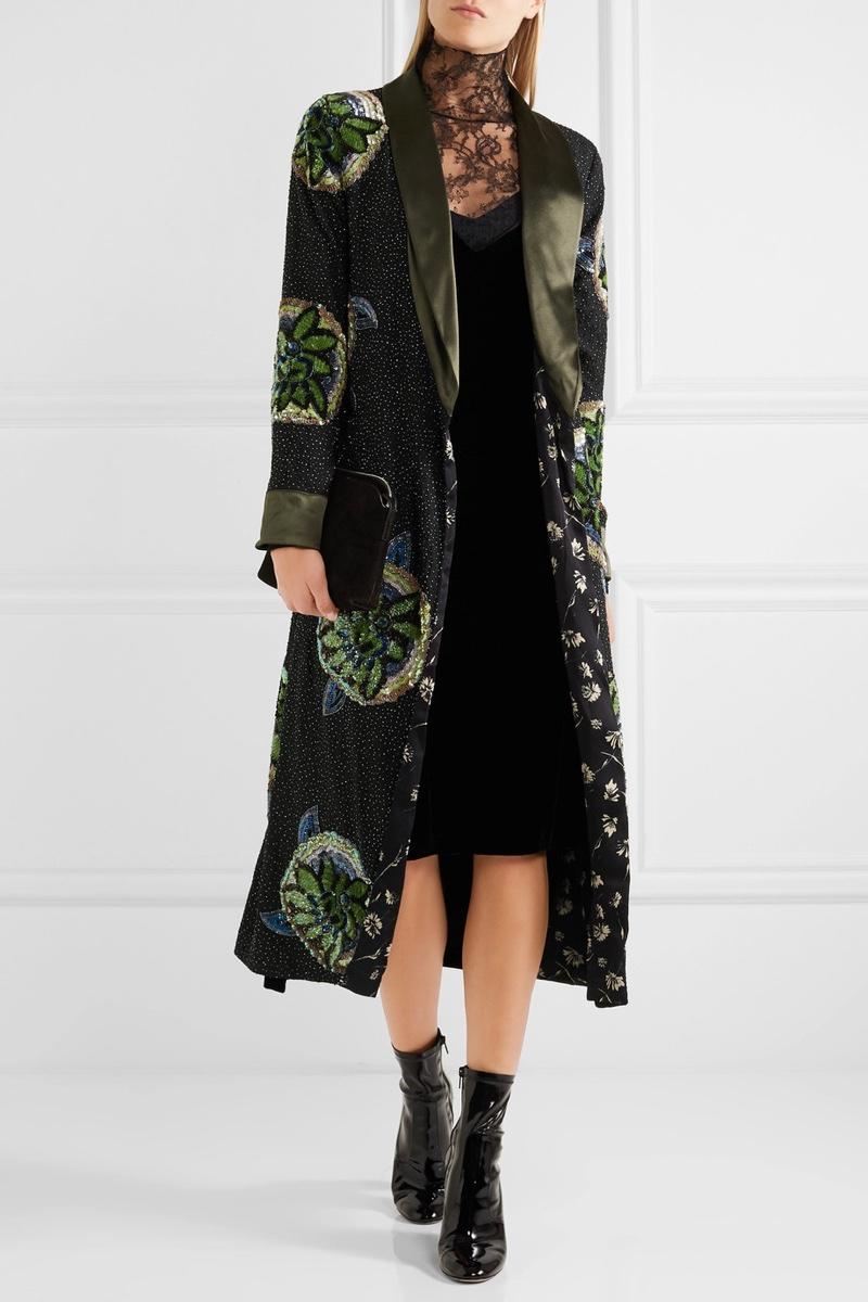 Etro Sequin Embellished Silk Jacket